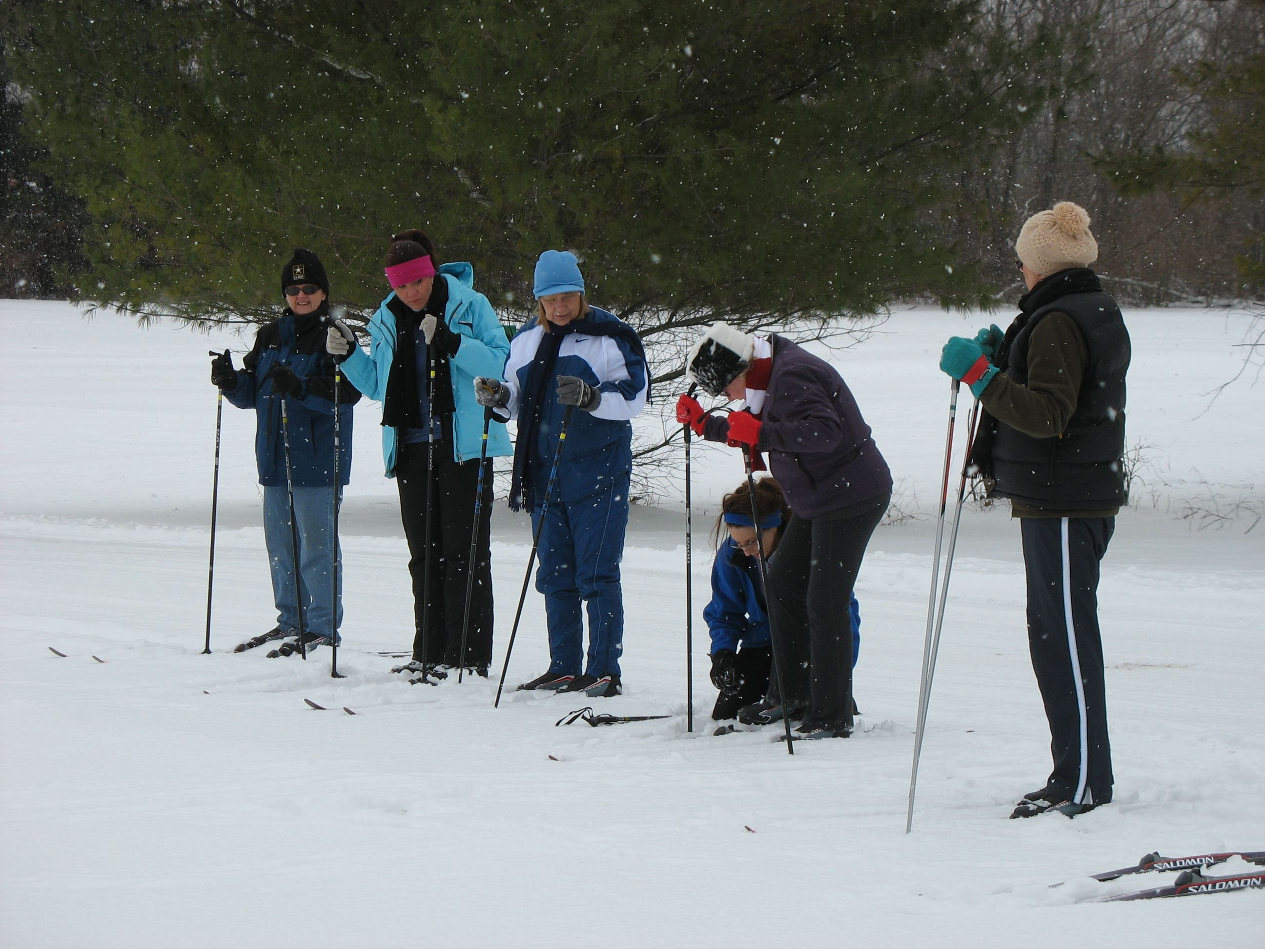 cross country ski lesson at St. Patrick&#39s County Park